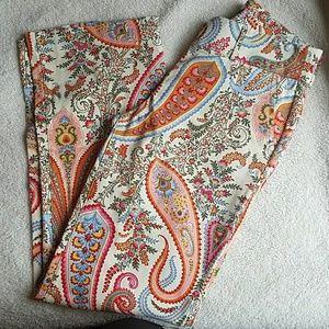 J Crew Paisley Pants Size 4